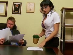 Lustful secretary (Abella Anderson) gets pounded turn over slay rub elbows with chest of drawers - Brazzers