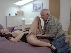 DADDY4K. Knockout Ornella Morgen enjoys nasty sex with old dad