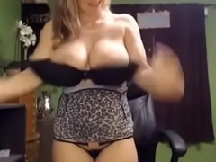 Amazing blonde mommy fro huge milky gut sucking sex-toy with the addition of spraying milk for strangers pleasure heavens video colloquy