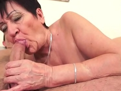 Chubby euro granny pussylicked increased by stuffed