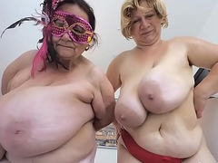 team a few older ladies hack massive titties