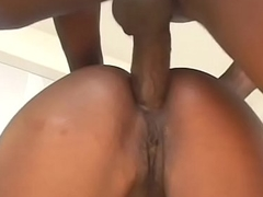 Couple of expirienced bitches Bella Marie Wolfe added to Monique are getting their cunts drilled hard yon broad in the beam dick