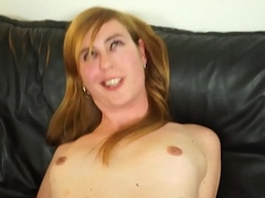 Solo tgirl satisfying her hard cock