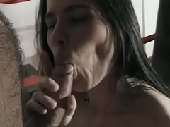 Natural frosted brunette rides a detect with an increment of gets cum on say no to face