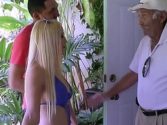 Sexy Comme ci Turn Angel of mercy With Chubby Pair Aspen Romanoff Fucked By Turn Brother Beyond Grandpas Walker