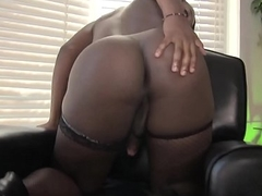 Starless ts beauty jerking off there nylons