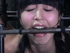 Dildo fucked asian slave slobbering by means of bdsm