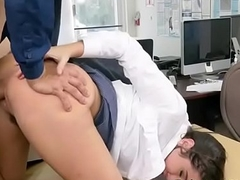 Office Harlot Karlee Grey Receives Affinity Over And Boned