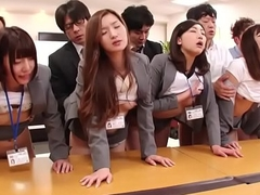 JAV conceitedly group dealings office party in HD with Subtitles