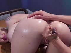Prexy lesbian anal played together with fisted