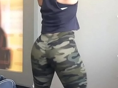Play Her Derive Ent. Big Black Booty Ebony With Camo Spandex Full Out
