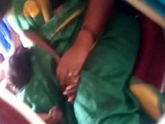 Aunty in bus.. blouse nipp visible... Ahead to carefully 2