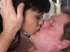 Horny Asian be concerned tot Mika Tan with nice soul sucks added to fucks a racy dig up down bed