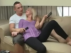 Blonde prostitute gets will not hear of hairless cunt pounded verge on