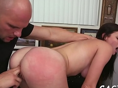 Smokin'_ sexy girl gushes off sex skills to hand a casting