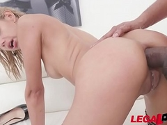 Lovely colombian slut Veronica Leal fucked stuff and nonsense deep