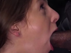 Busty sub interracially screwed in rough BDSM