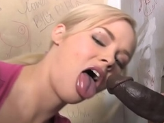 Katie Kox Visits A Gloryhole Involving Find A Big black cock