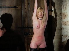 Candee Licious acquires throat fucked endures tied hither bondage and rough porno sex