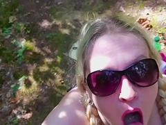 Outdoor Sloppy Oral-sex Busty Non-professional